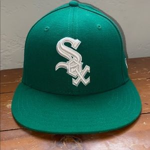 Green/ White MLB Chicago White Sox  Fitted Hat
